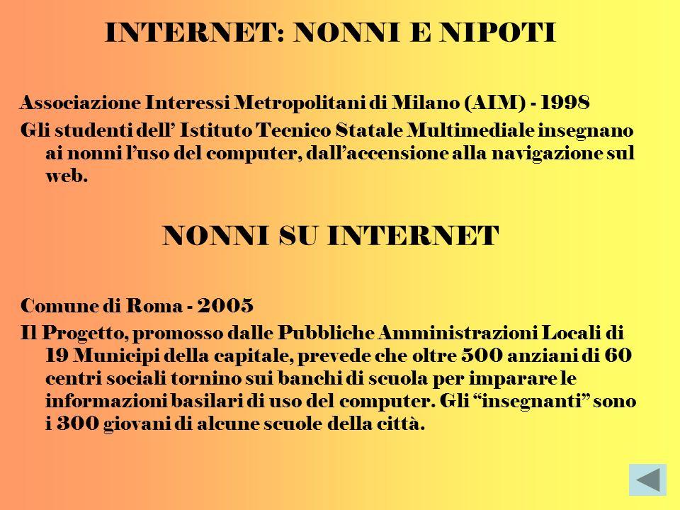 INTERNET: NONNI E NIPOTI