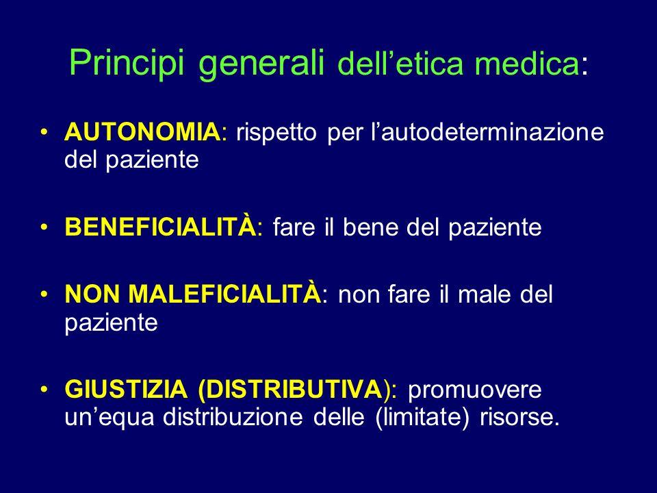 Principi generali dell'etica medica: