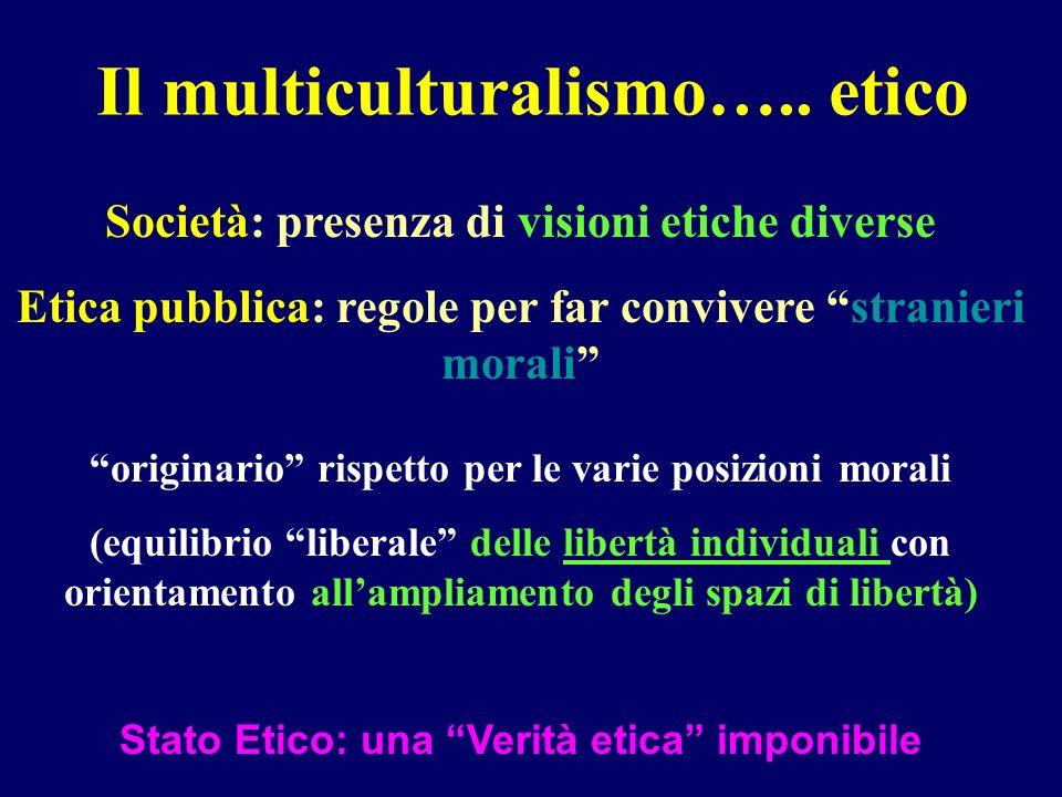 Il multiculturalismo….. etico