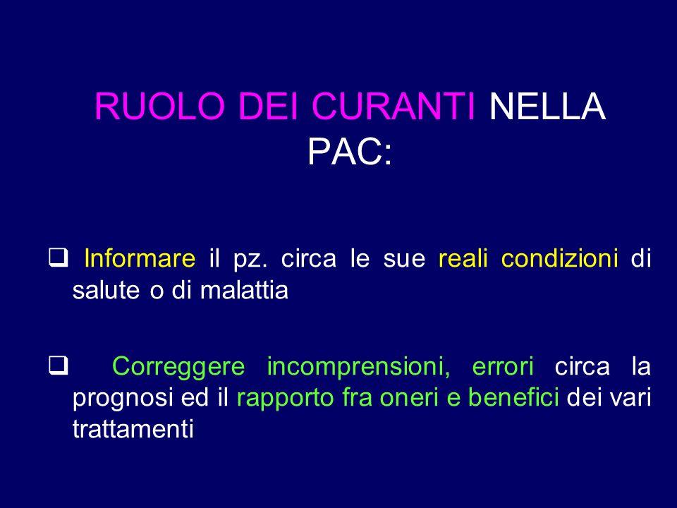 RUOLO DEI CURANTI NELLA PAC: