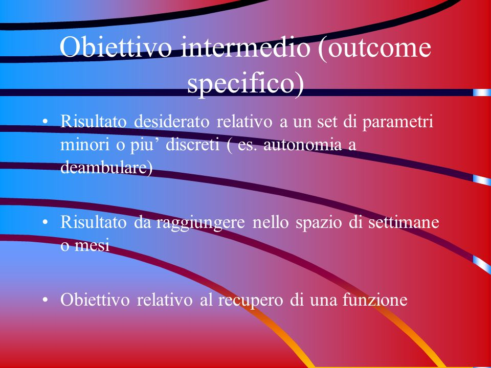 Obiettivo intermedio (outcome specifico)
