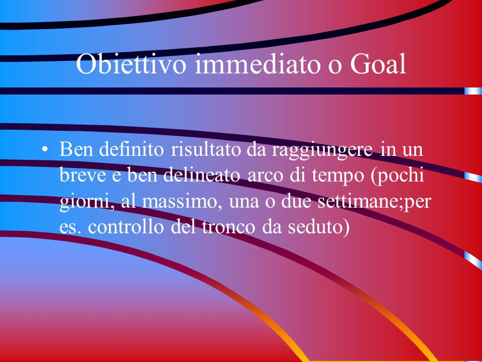 Obiettivo immediato o Goal
