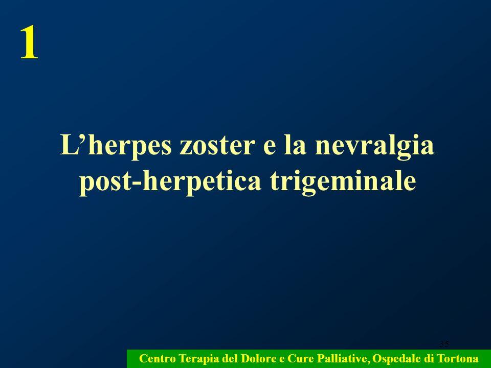 1 L'herpes zoster e la nevralgia post-herpetica trigeminale