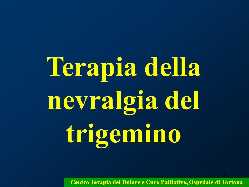Terapia della nevralgia del trigemino