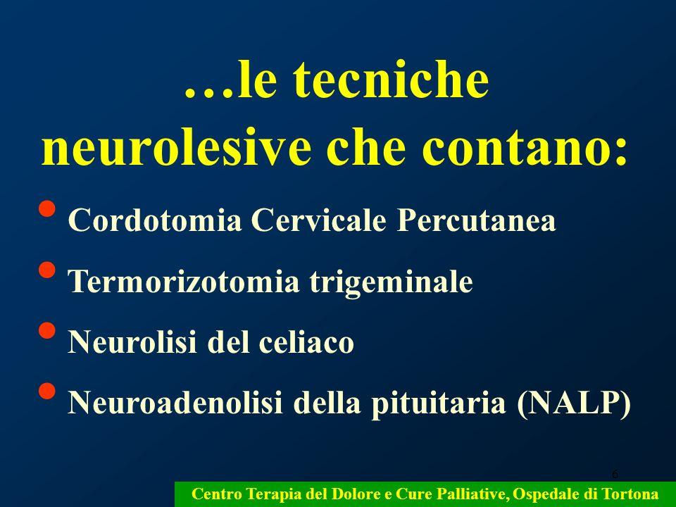 …le tecniche neurolesive che contano: