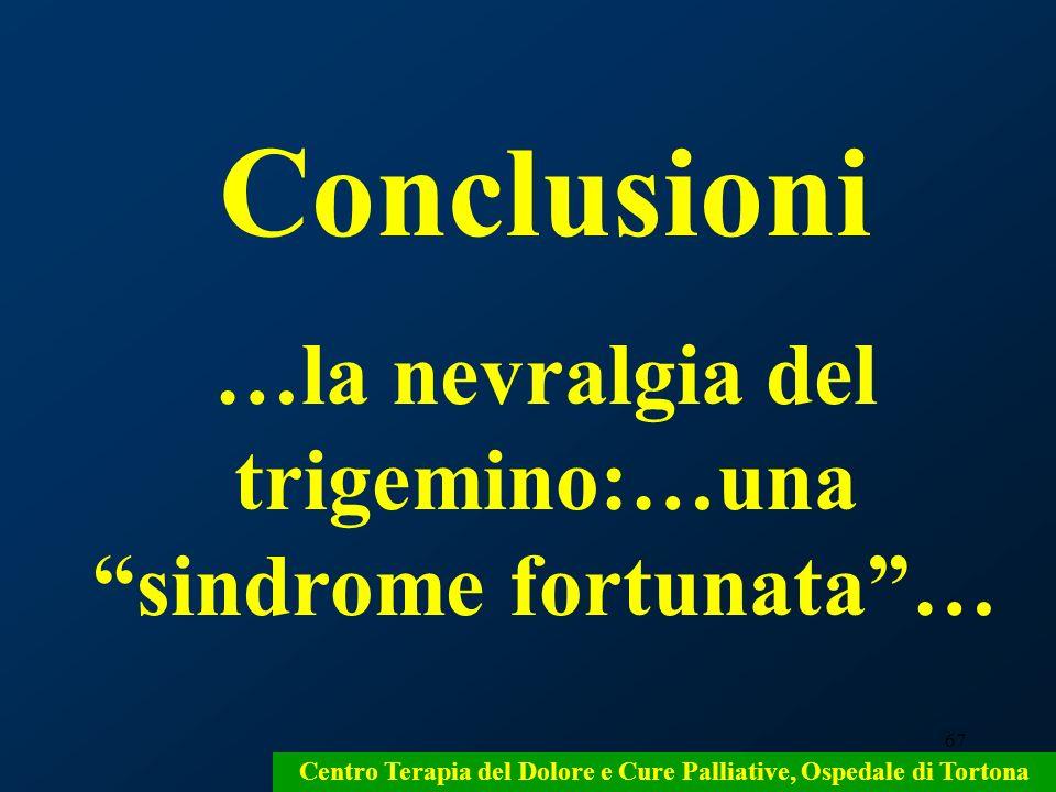 Conclusioni …la nevralgia del trigemino:…una sindrome fortunata …