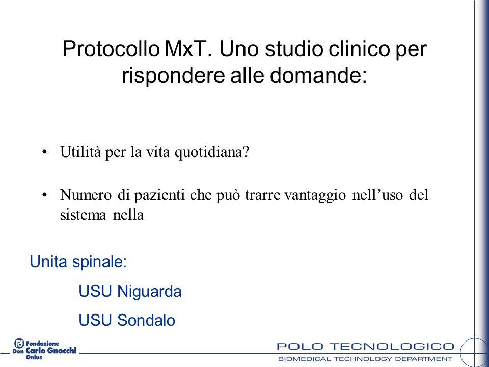 Protocollo MxT. Uno studio clinico per rispondere alle domande: