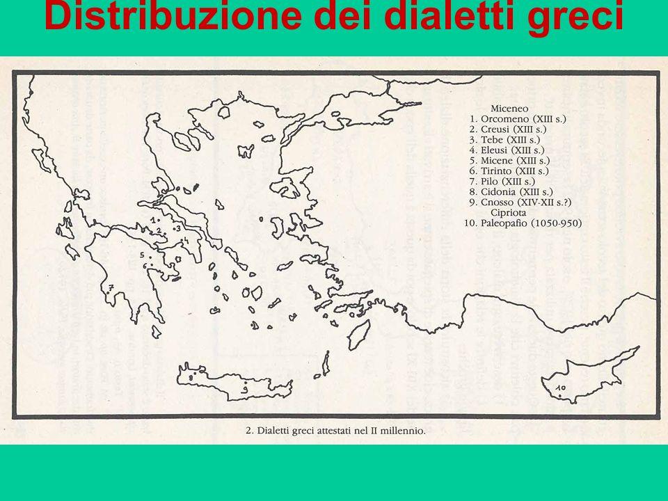 Distribuzione dei dialetti greci