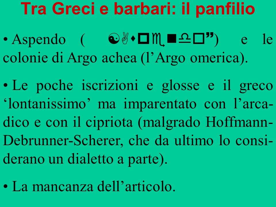 Tra Greci e barbari: il panfilio