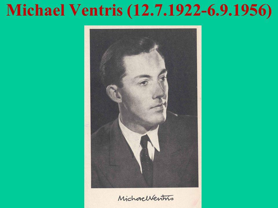 Michael Ventris (12.7.1922-6.9.1956)