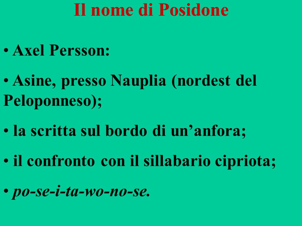 Il nome di Posidone Axel Persson: