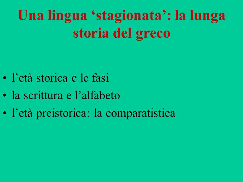 Una lingua 'stagionata': la lunga storia del greco