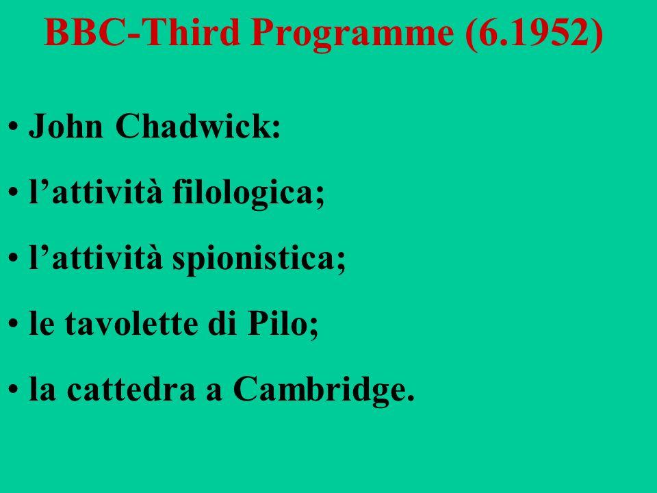 BBC-Third Programme (6.1952)