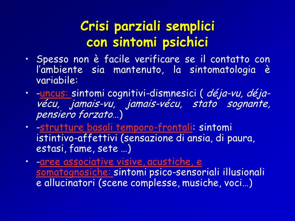 Crisi parziali semplici con sintomi psichici