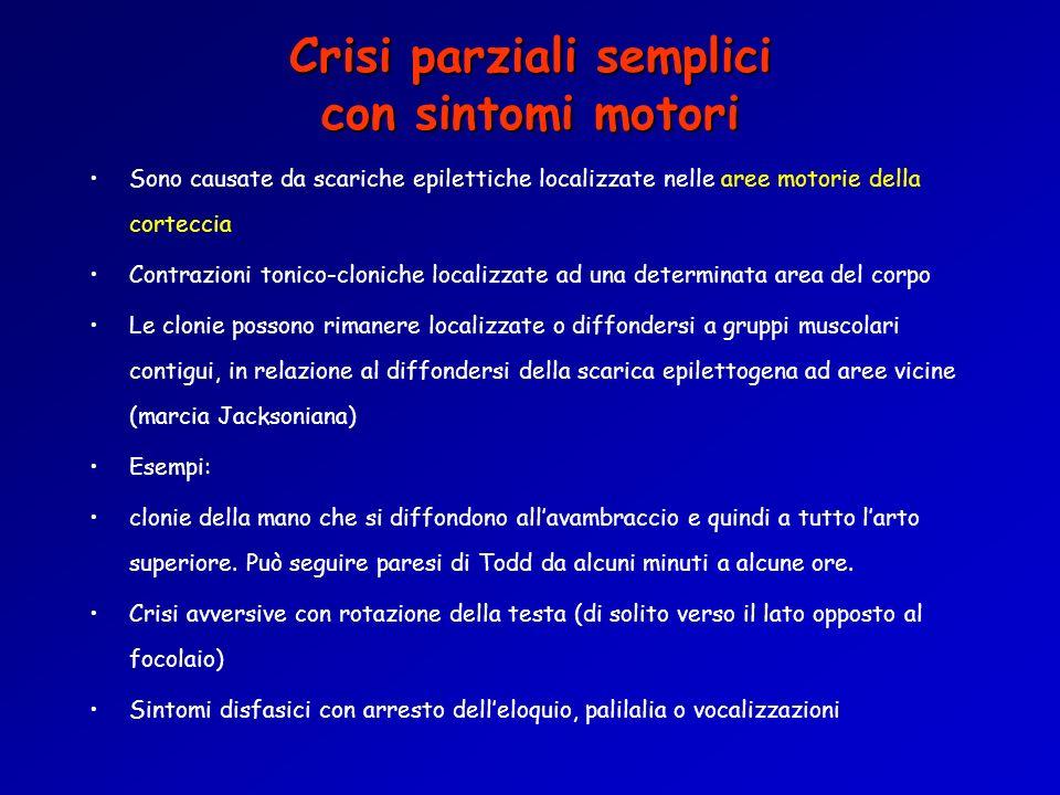 Crisi parziali semplici con sintomi motori