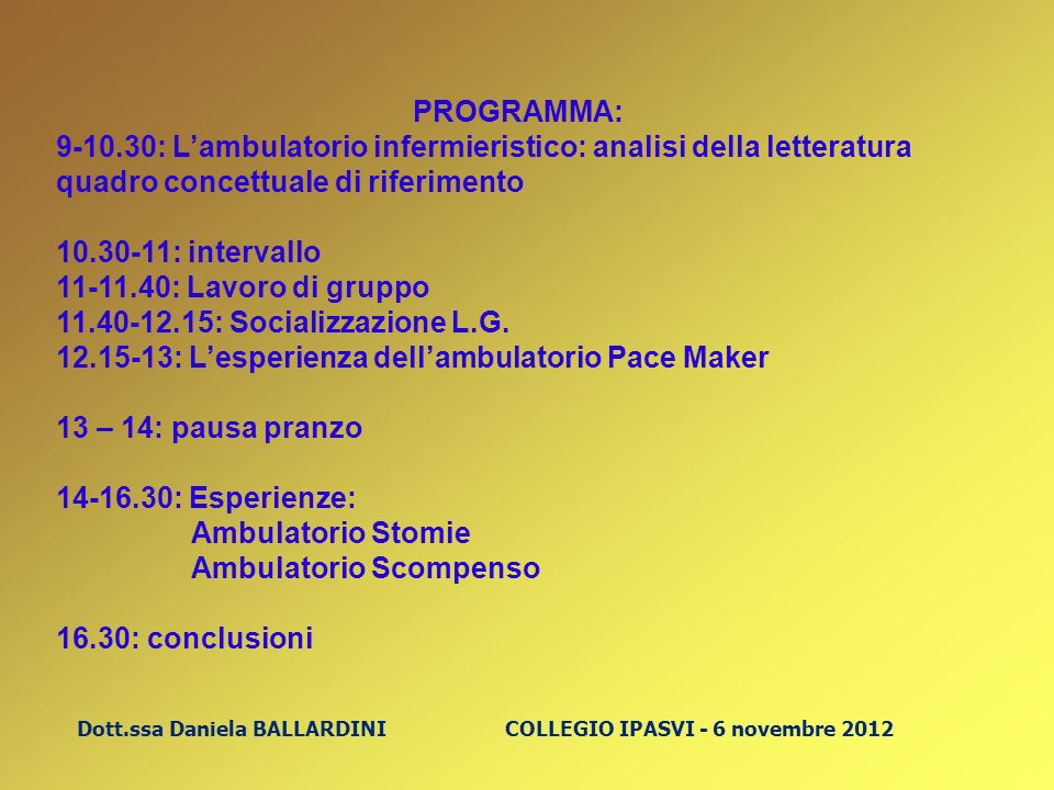 12.15-13: L'esperienza dell'ambulatorio Pace Maker