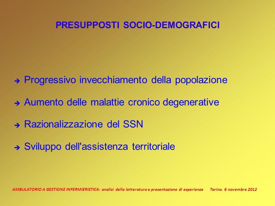 PRESUPPOSTI SOCIO-DEMOGRAFICI