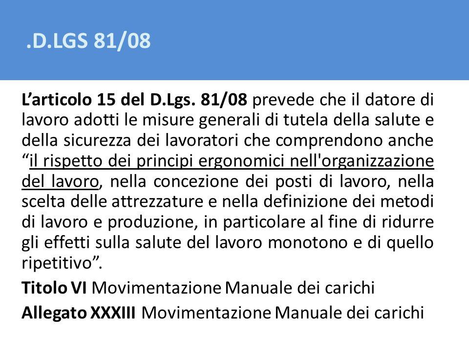 .D.LGS 81/08