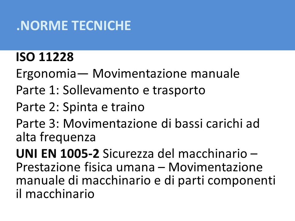 .NORME TECNICHE