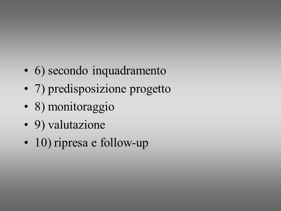 6) secondo inquadramento