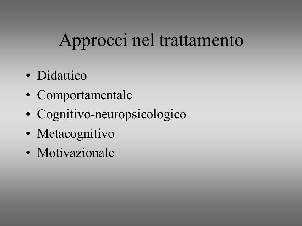 Approcci nel trattamento
