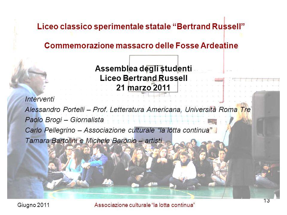 Assemblea degli studenti Liceo Bertrand Russell