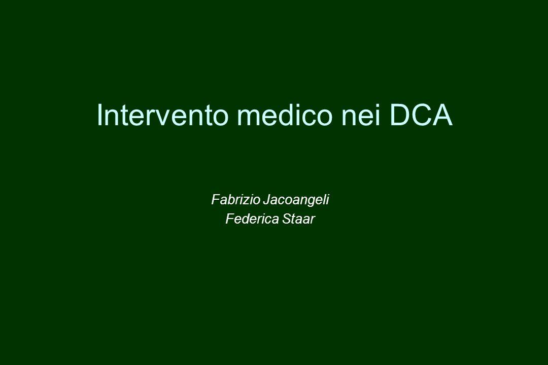 Intervento medico nei DCA