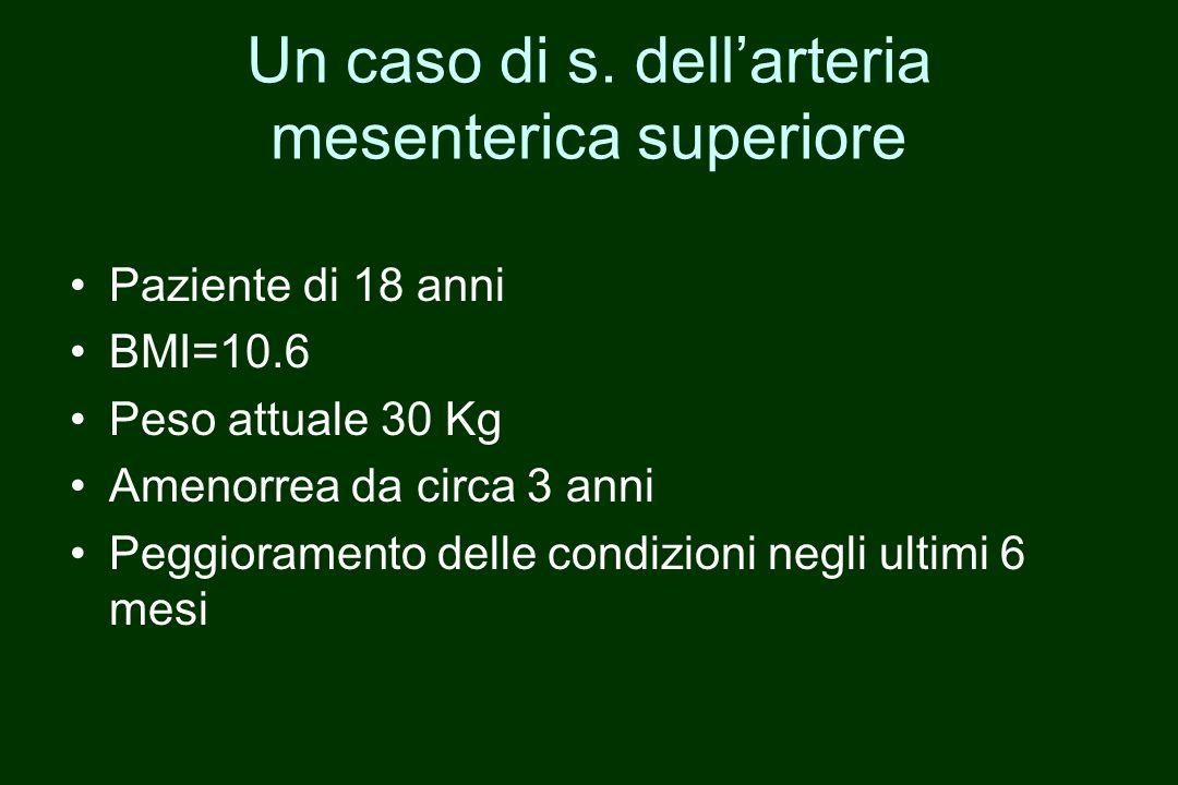 Un caso di s. dell'arteria mesenterica superiore
