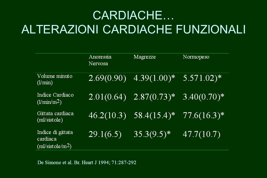 CARDIACHE… ALTERAZIONI CARDIACHE FUNZIONALI