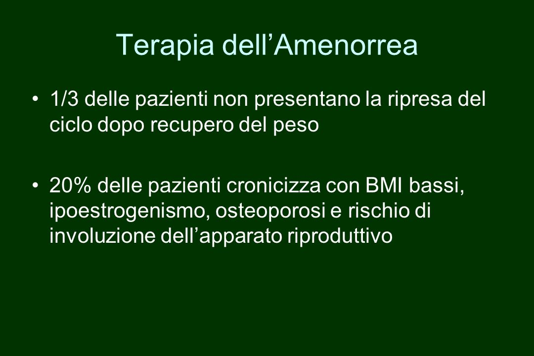 Terapia dell'Amenorrea