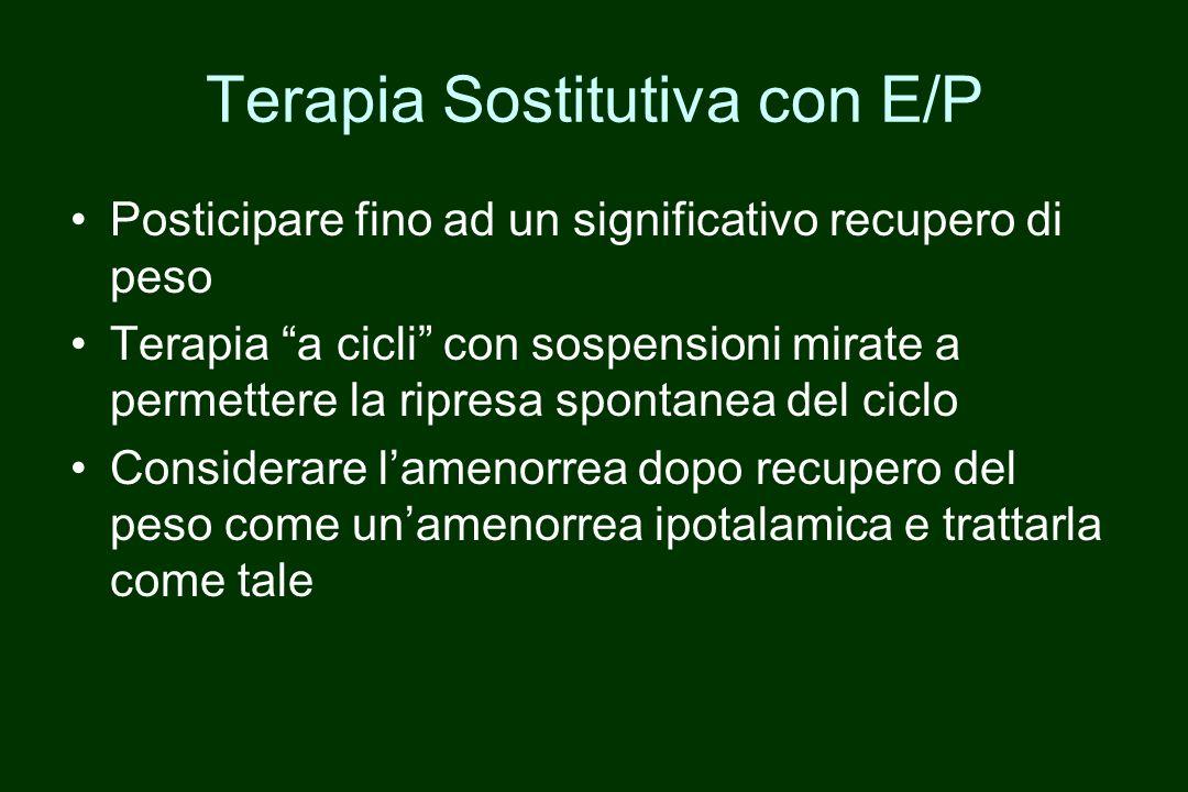 Terapia Sostitutiva con E/P