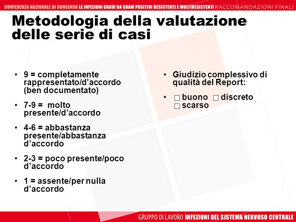 Metodologia della valutazione delle serie di casi
