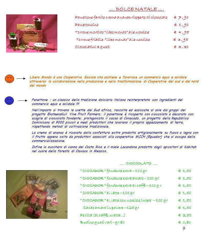…. DOLCE NATALE …. Panettone farcito crema ananas ricoperto di cioccolato € 7 , 90.