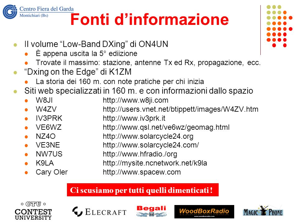 Fonti d'informazione Il volume Low-Band DXing di ON4UN