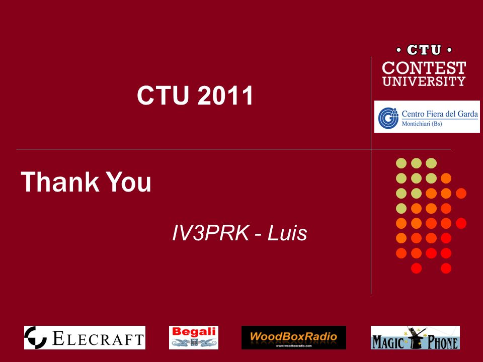 CTU 2011 Thank You IV3PRK - Luis 55