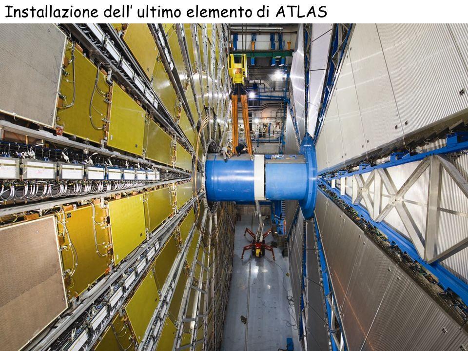 Installazione dell' ultimo elemento di ATLAS