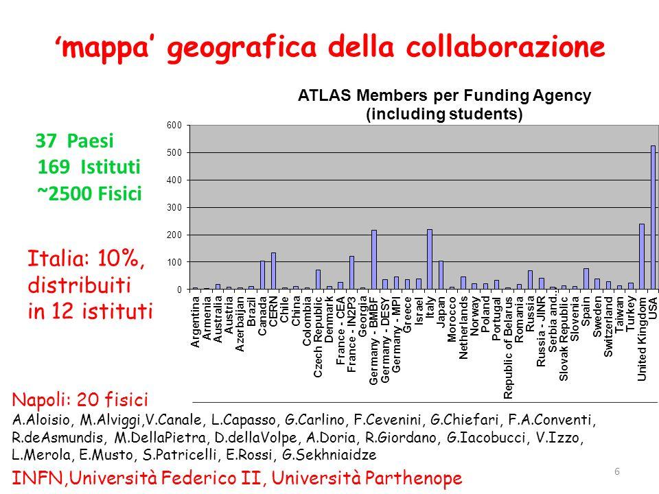 'mappa' geografica della collaborazione