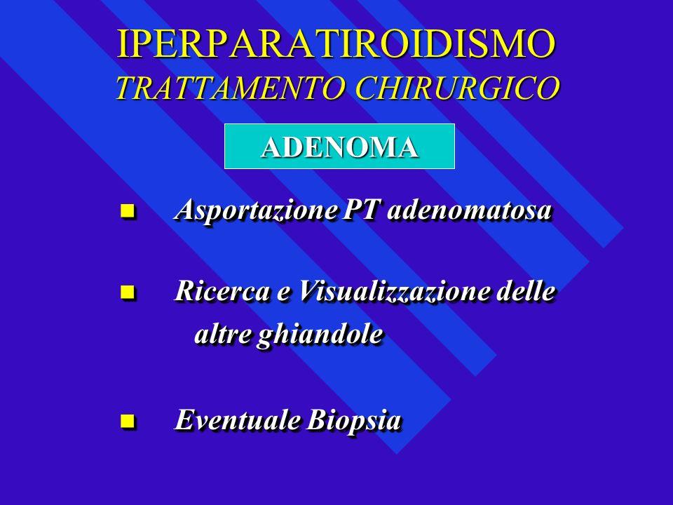 IPERPARATIROIDISMO TRATTAMENTO CHIRURGICO