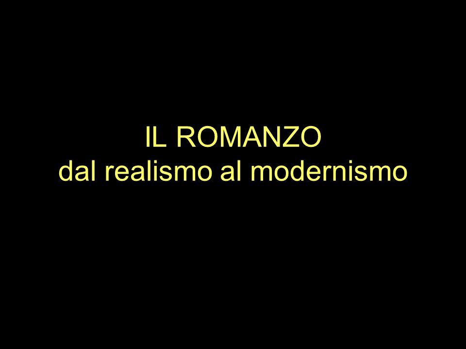IL ROMANZO dal realismo al modernismo