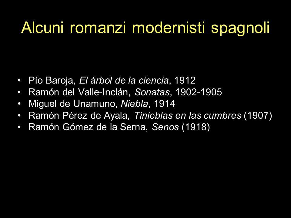 Alcuni romanzi modernisti spagnoli