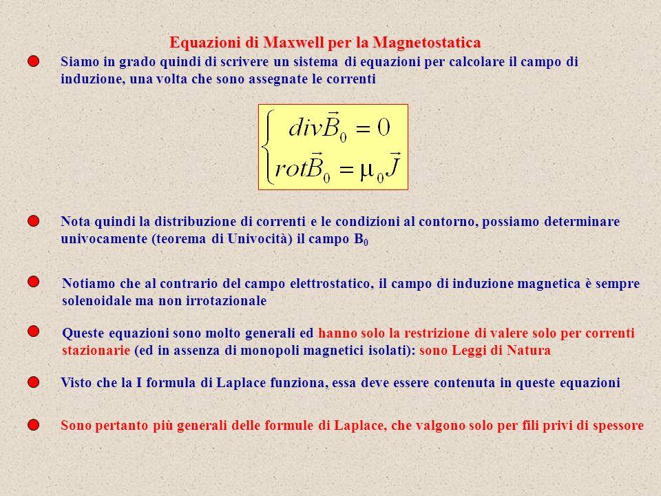 Equazioni di Maxwell per la Magnetostatica