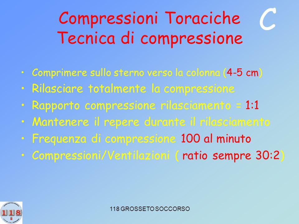 Compressioni Toraciche Tecnica di compressione