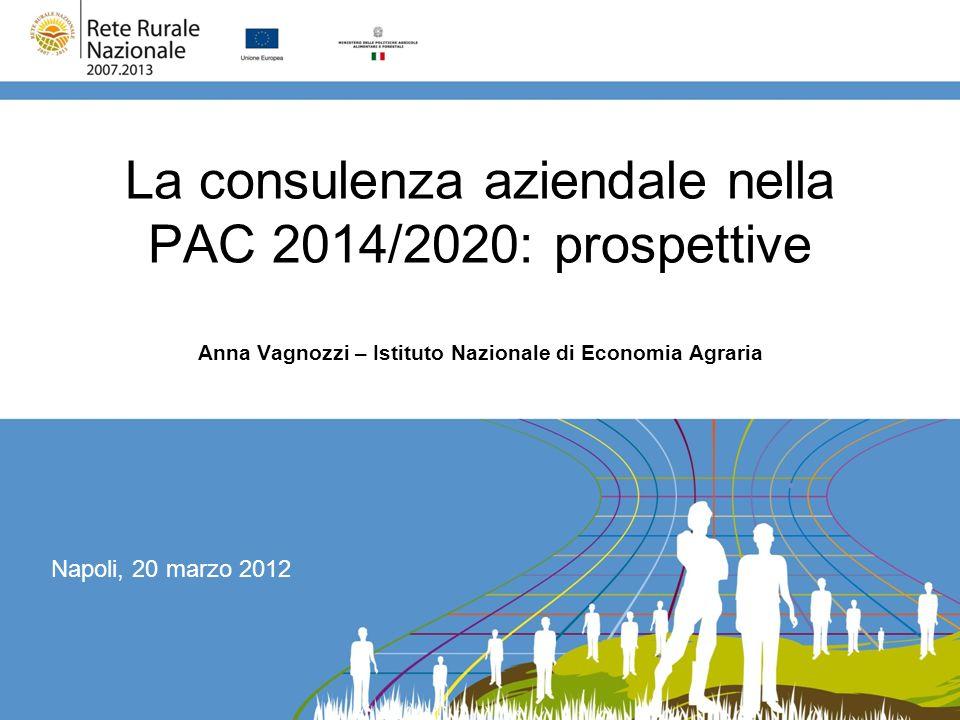 La consulenza aziendale nella PAC 2014/2020: prospettive