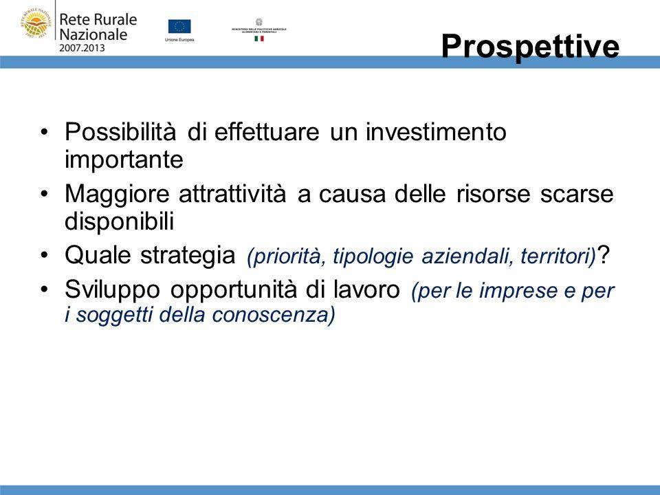 Prospettive Possibilità di effettuare un investimento importante