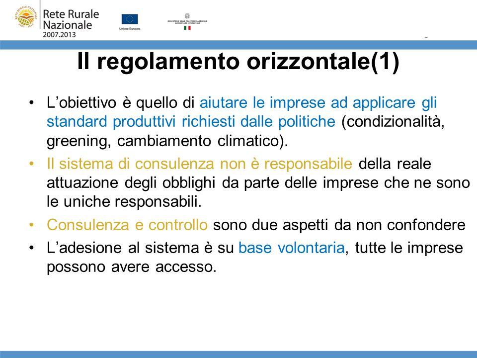 Il regolamento orizzontale(1)