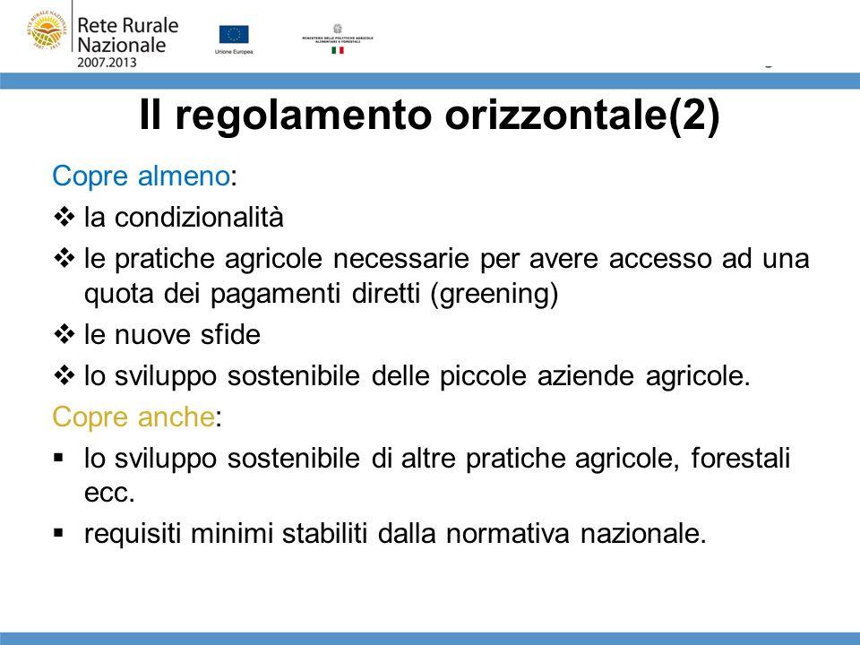Il regolamento orizzontale(2)