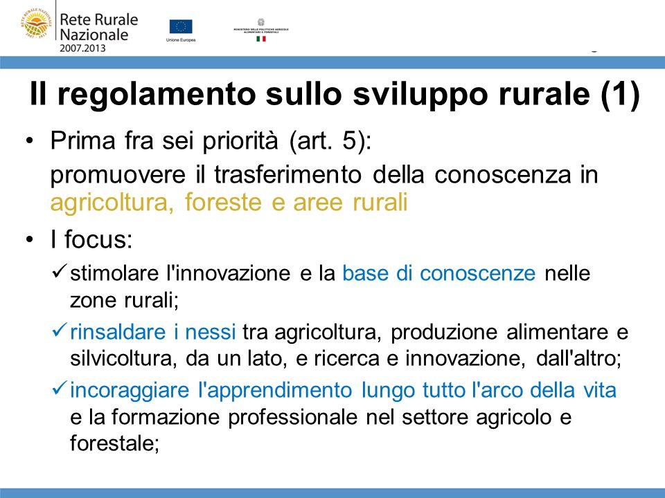 Il regolamento sullo sviluppo rurale (1)