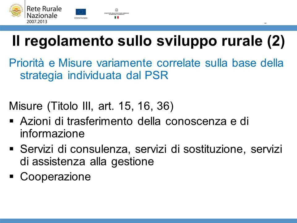 Il regolamento sullo sviluppo rurale (2)