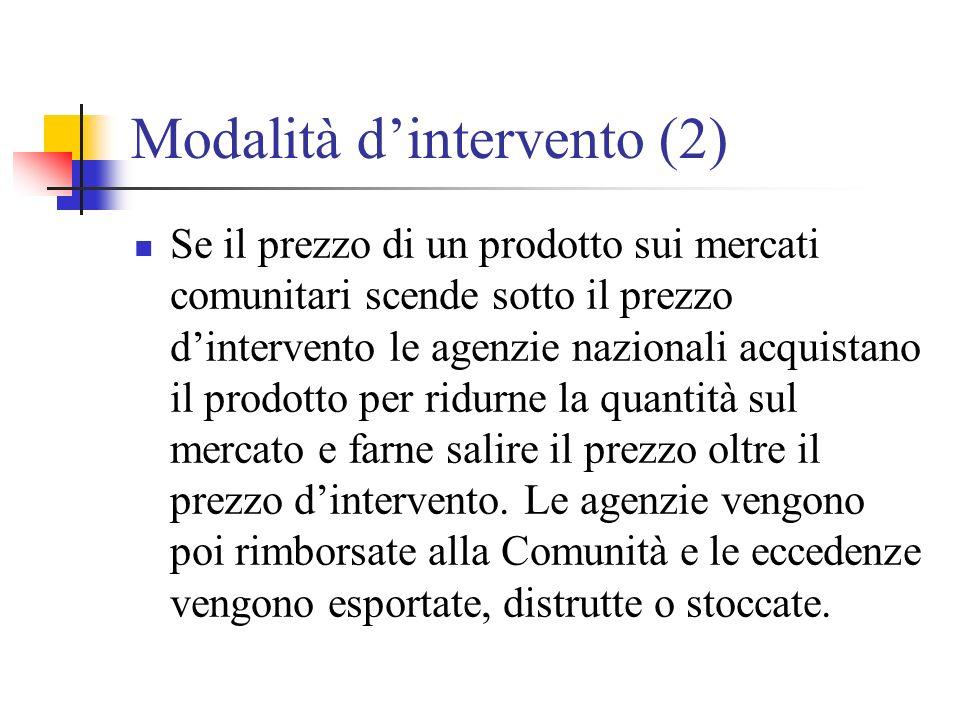 Modalità d'intervento (2)