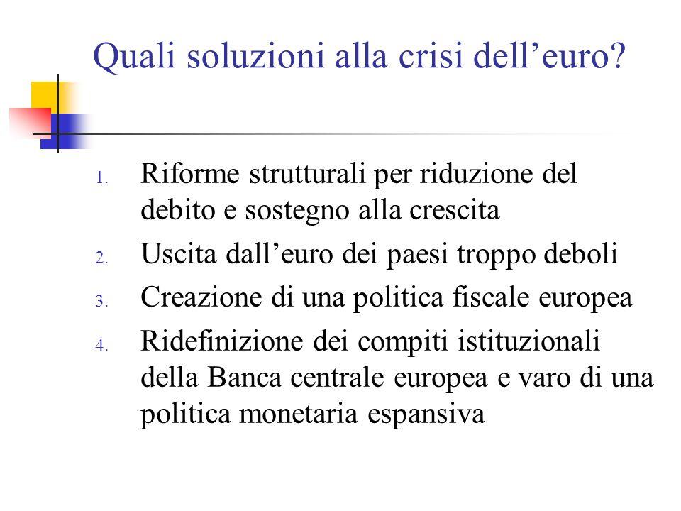 Quali soluzioni alla crisi dell'euro